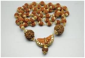 DVM Malabar Gems Ek Mukhi Rudraksha Mala With Golden Colour Cap