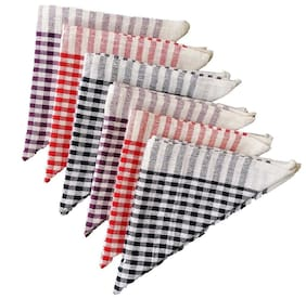 Mandhania Cleaning Cloth Multipurpose Kitchen Napkin Table Wipe (Pack of 6) 15x15 Inch