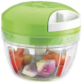 Manual Chopper Vegetable & Fruit & Dry Fruit  Cutter & Chopper 3 Stainless Steel Blace No Electric City Required (1Pc) Assorted Color
