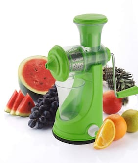 Manual Fruit and Vegetable Juicer with Steel Handle and Waste Collector with Vacuum Locking System (1Pc) Assorted Color