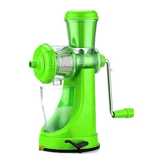 Manual Fruit and Vegetable Juicer with Steel Handle and Waste Collector with Vacuum Locking System Hand Juicer, Fruit Juicer for All Fruits (1Pc) Assorted Color