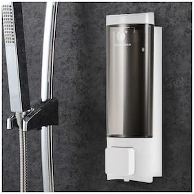 Manual Hand Soap Dispenser Wall Mount Liquid Shampoo Shower Gel Dispenser Hand Cleanser Washroom Lotion Dispenser for Bathroom Restroom Hotel 200ml