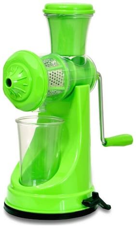 Manual Hand Fruit Juicer And Vegetable Juicer / Extractor  With Unbreakable Plastic Body And Stainless Steel handle / Strainer