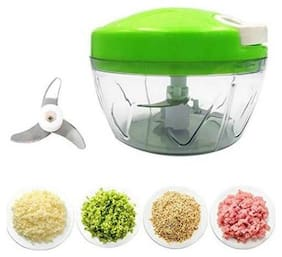 Manual Handy Mini Vegetable Chopper With Steel 3 Blades Vegetable Chopper