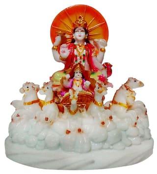 Buy Marble Look Lord Suryadev Idol Handicrart Statue God Surya Dev