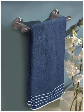 MARKHOME 500 GSM Cotton Bath Towel ( Pack of 1 , Blue )