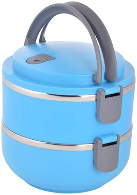 MARKETON Assorted 2 Containers Lunch box ( Set of 1 , 1400 ml )