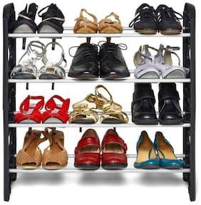 MARKETWALA Plastic Shoe Rack ( Black )