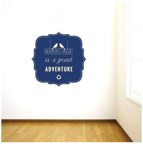Rawpockets Wall Stickers  ' Marriage is a Great Adventure' Quote '