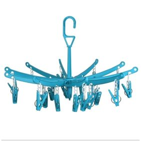 Mart and  Fold-able Portable Hanging Dryer Clothes Drying Hanger with 18 Clip