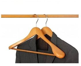 Mart and Premium Quality Wooden Suit Hangers Pack of 2
