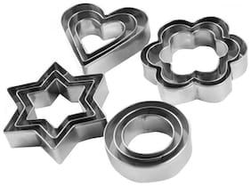 Mart and Stainless Steel Cookies Cutter With 4 Shape 12 Pieces