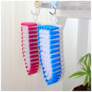 Martand Pack Of 2 pcs Flexible Cleaning Brush for Home, Kitchen and Bathroom- Multicolor
