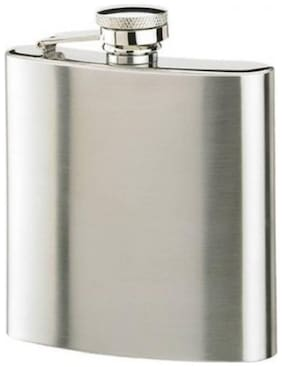 Martand Portable Stainless Steel Luxury Wine Hip Flask (8oz) (Plain)