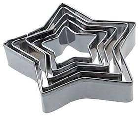 Martand Stainless Steel Star Shape Cookies Cutter- Pack Of 5Pcs
