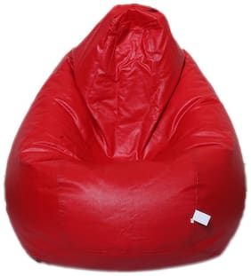 Maruti Fun Bags Bean Bag Cover Classic Xl Red Colour Without Beans