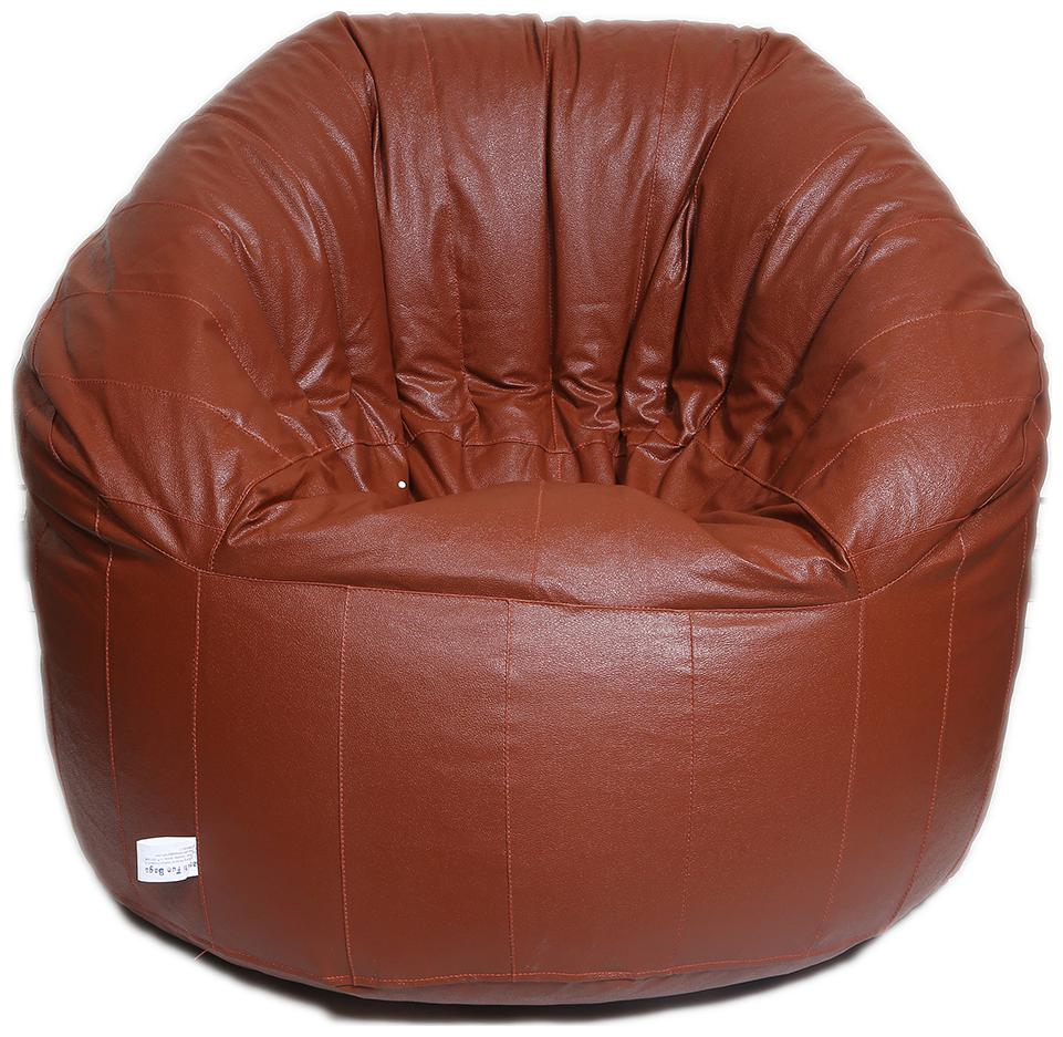 Maruti fun bags Bean Bag cover Big Boss Chair Standard Tan Colour Without Beans by Maruti Fun Bags