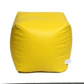 Maruti fun bags Bean Bag cover Puffy Standard Yellow Colour Without Beans