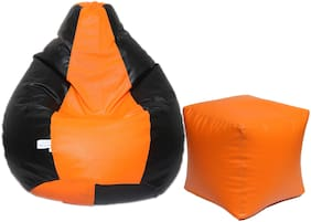 Maruti fun bags XL Bean Bag Combo with Puffy Cover Classic Without Beans