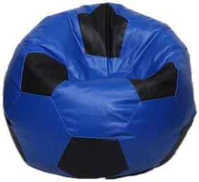 Maruti Fun Bags Bean Bag Cover Football Standard Blue Colour Without Beans