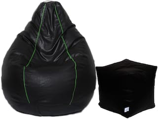 Maruti fun bags XL Bean Bag Combo with Puffy Cover Without Beans Striped