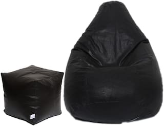 Maruti fun bags Bean Bag Combo with Puffy Cover XL Without Beans