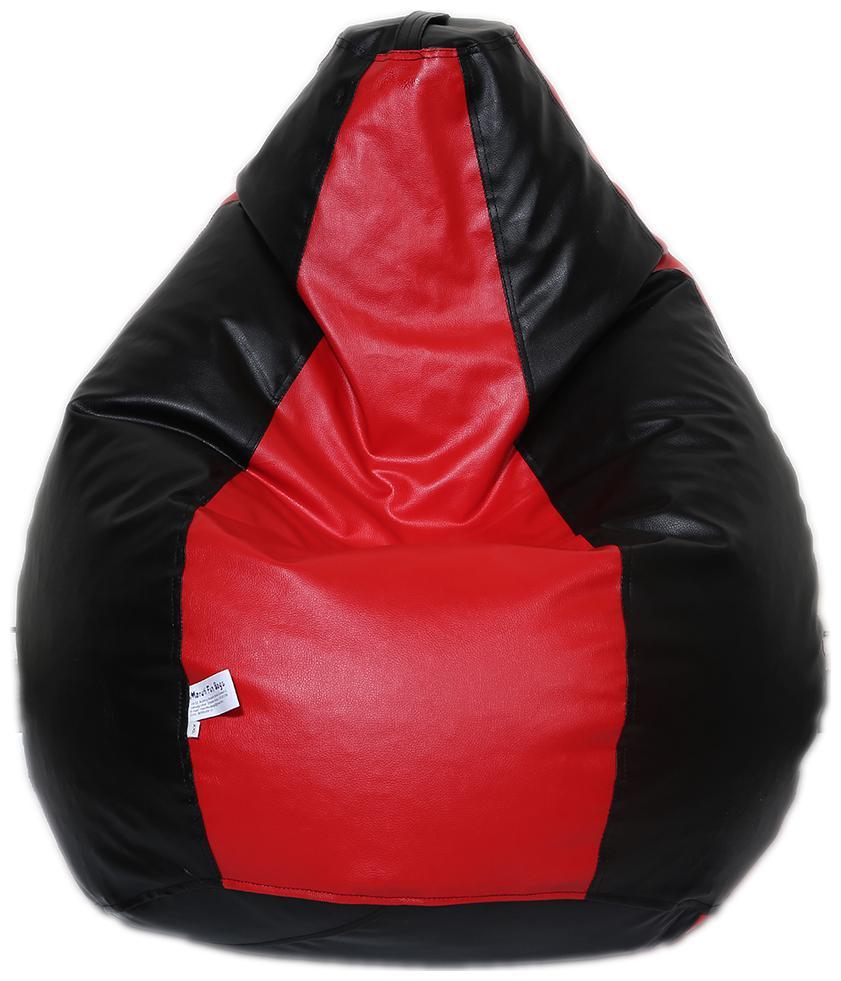 Maruti Fun Bags Bean Bag Cover Dual Colour Classic Xxl Red Colour Without Beans by Maruti Fun Bags