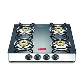 Prestige 40279 4 Burner Regular Black Gas Stove ,