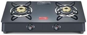 Prestige 2 Burner Manual Regular Black Gas Stove - Marvel