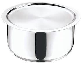 MARWALL Prabha Heavy Gauge 304 Grade Stainless Steel Patila/Tope with Lid(Induction Friendly (14 cm, 1.1 Ltrs)
