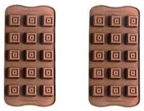 Marwall Silicone Brown Moulds & cookie cutters ( Set of 2 )
