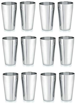 Marwall Stainless Steel Jucy 12 pcs Glass Set