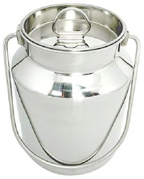 Marwall Stainless Steel Ghee can/Oil Container/Milk Pot/Milk Barni (2 L)