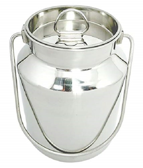 Marwall Stainless Steel Ghee can/Oil Container/Milk Pot/Milk Barni  2.5 L