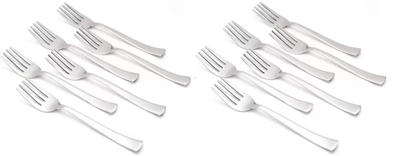 Marwall Stainless Steel Dinner/Table Fork Set  Length : 16 cm;Thickness:2 mm     Set of 12 pcs