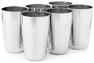 Marwall Stainless Steel Jucy 6 pcs Glass Set