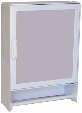 Maskey ABS Unbreakable Z-GM 103 Premium Bathroom Single Door Mirror Cabinet With outside Rod;Designer Storage Cabinet / Medicine Cabinet