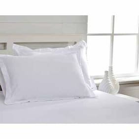 Maspar White King Bed Sheet with 2 Pillow Covers (3 pc)