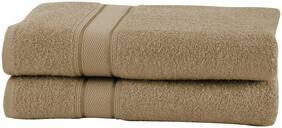 Maspar 500 GSM Cotton Beige Large Bath Towel (Pack of 2)