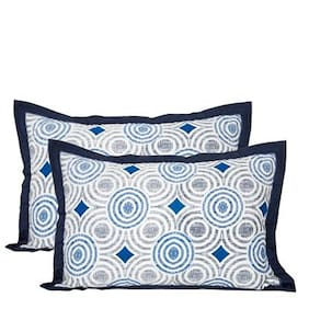 Maspar Astounding Ace Blue Pillow Sham Set Of 2