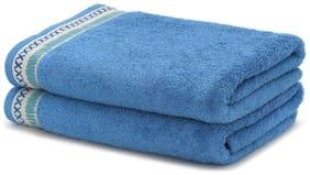 Maspar Carnival Prime Blue Hand Towel Set Of 2 (2 pc)