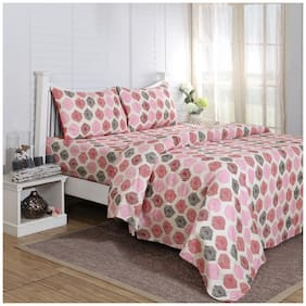 Maspar Carnival Prime Red Single Bed Sheet With 1 Pillow Cover  (2 Pc)
