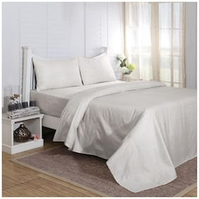Maspar Carnival Prime Grey Double Bed Sheet with 2 Pillow Covers (3 Pc)