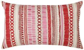Maspar Carnival Prime Oodless Print Red Cushion Cover (1 PC)
