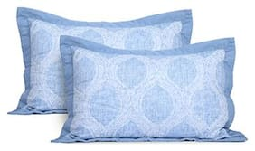 Maspar Classical Fusion Cyma Large Pillow Sham Set ( Pack Of 2 )