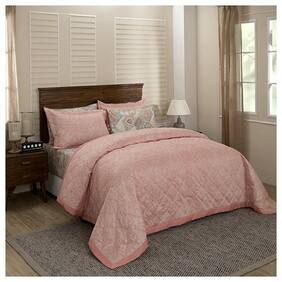 Maspar Poly cotton Modern Single Size Quilt Pink
