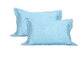 Maspar Cotton Plain Pillow Covers ( Set Of 2 , Turquoise )