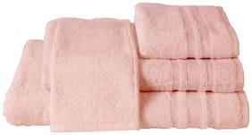 Maspar Corded Stripe Border Pink Large Towel