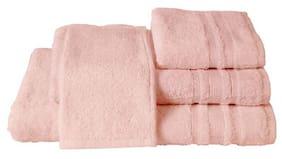 Maspar Corded Stripe Border Pink Large Towel