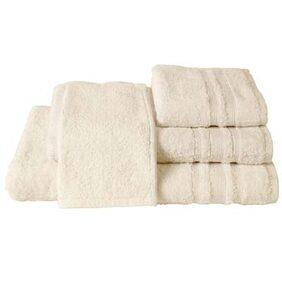 Maspar Corded Stripe Border Beige Medium Size Towel